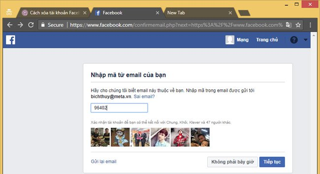 tao tai khoan facebook