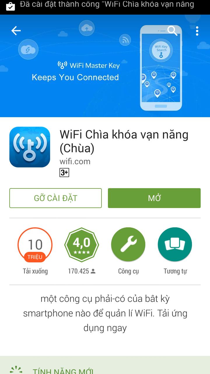 """Sử dụng Wifi """"chùa"""" với wifi chìa khóa vạn năng"""