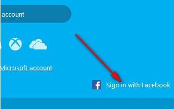 đăng nhập skype bằng facebook