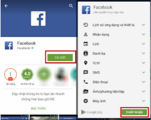 Tải facebook cho điện thoại