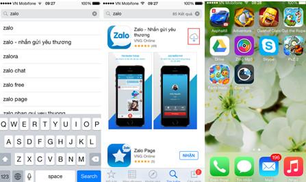 làm sao tải Zalo về điện thoại iPhone