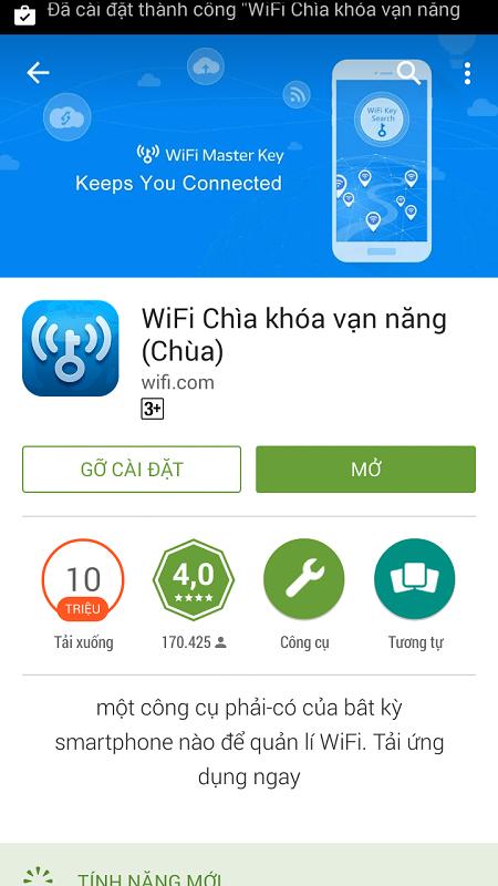 Tải và sử dụng Wifi chùa, sử dụng wifi không cần mật khẩu
