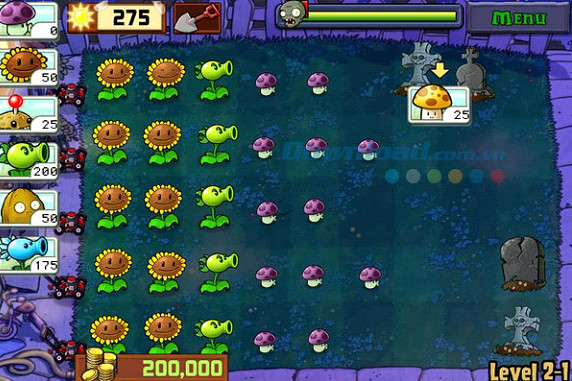 Bí quyết vượt qua các màn chơi sau khi tải game plant vs zombie