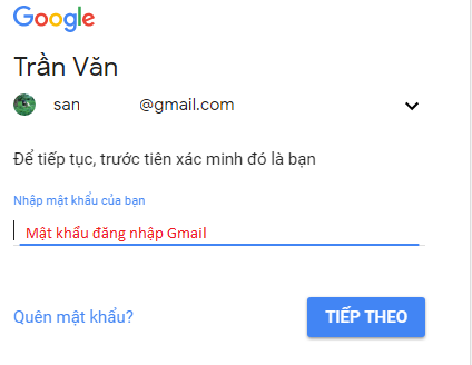 đổi mật khẩu gmail 2018