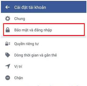 cách đổi pass facebook trên android