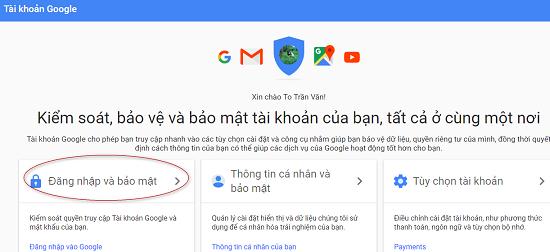 Đổi mật khẩu Gmail và tài khoản Google chỉ với 4 bước