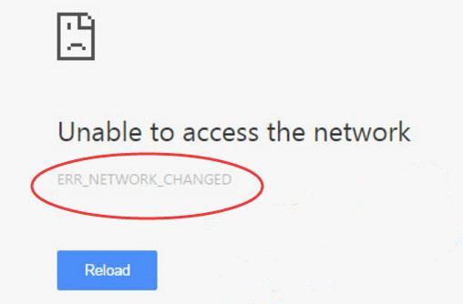 Khắc phục lỗi ERR_NETWORK_CHANGED khi duyệt web