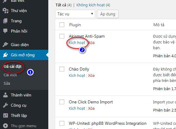hướng dẫn Cài đặt plugin wordpress