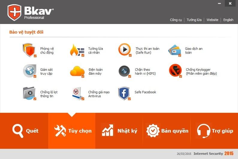 Mua bản quyền phần mềm diệt virut Bkav Pro Internet Security
