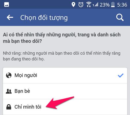 ẩn hoạt động trên facebook