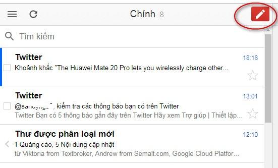sử dụng gmail không có internet