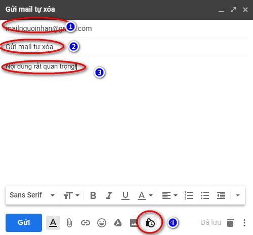 Cách gửi gmail tự xóa theo thời gian đã đặt trong Gmail