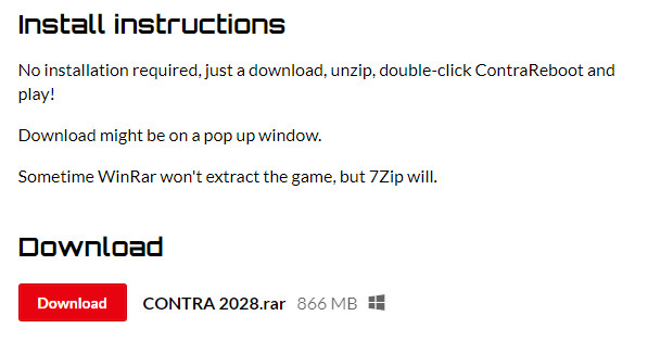 Download game contra 2028 cho PC