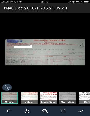 scan tài liệu trên android