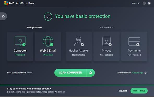 Tải AVG AntiVirus FREE 2019 – Phần mềm diệt virus miễn phí