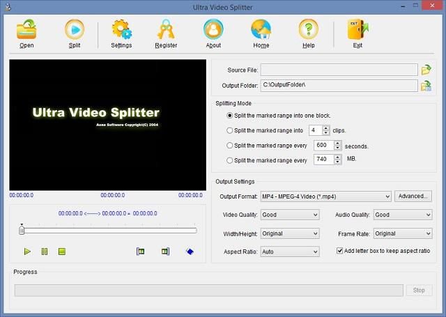 Cắt video chuyên nghiệp với phần mềm Ultra Video Splitter