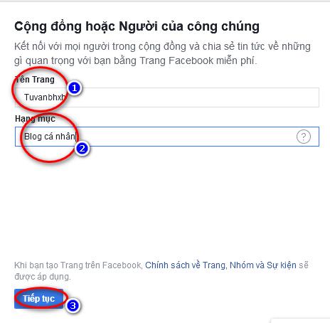 tạo fanpage facebook 2019