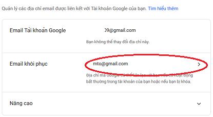 hướng dãn thêm email khôi phục gmail 2019
