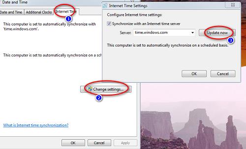 đặt lại giờ trên máy tính