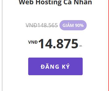 05 ngày khuyến mãi đăng ký hosting giá rẻ chỉ 15k, miễn phí tên miền