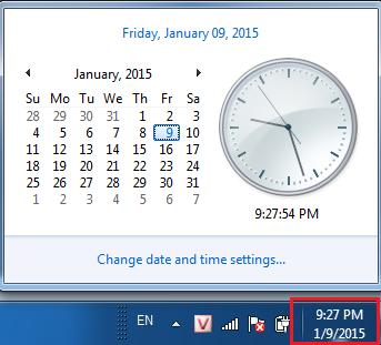 cài đặt ngày giờ máy tính