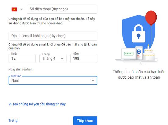 Phương pháp tạo gmail không cần số điện thoại 2020 mới nhất