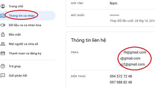 cách thêm email khôi phục gmail 2019