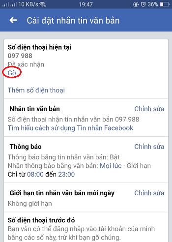 sữa số điện thoại facebook