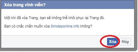 Cách xóa fanpage facebook khi không còn sử dụng