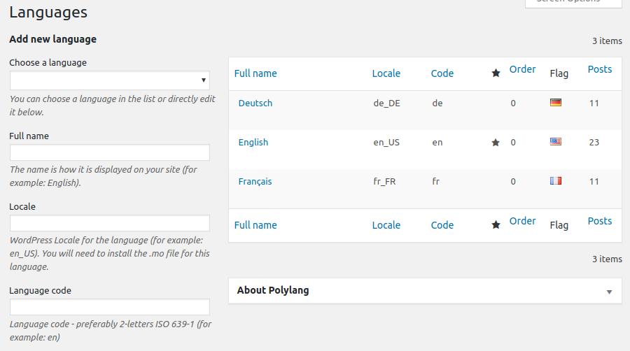 làm website nhiều ngôn ngữ