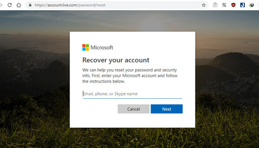 khôi phục mật khẩu windows 10