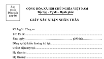 Mẫu giấy xác nhận khám bệnh BHYT thay cho CMND