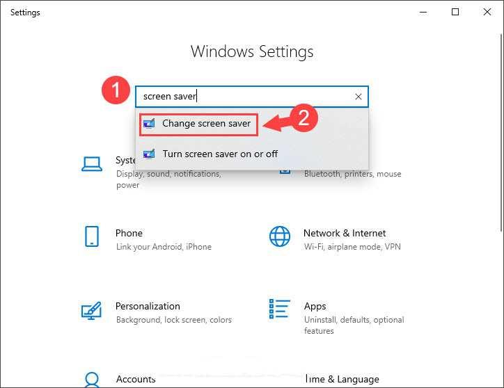 Cách bật, tắt tính năng màn hình chờ trên Windows 10