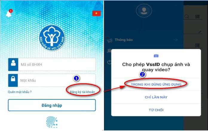 Cài đặt ứng dụng VssID cho điện thoại Android phiên bản mới